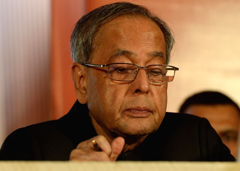 President Pranab Mukherjee addressing to AGM Indian Chamber of Commerce in Kolkata on August 02, 2014. - Pranab Mukherjee