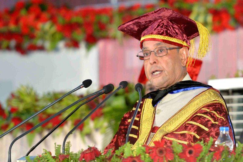 President Pranab Mukherjee at the Convocation of Lovely Professional University at Phagwara in Punjab on May 2, 2017. - Pranab Mukherjee