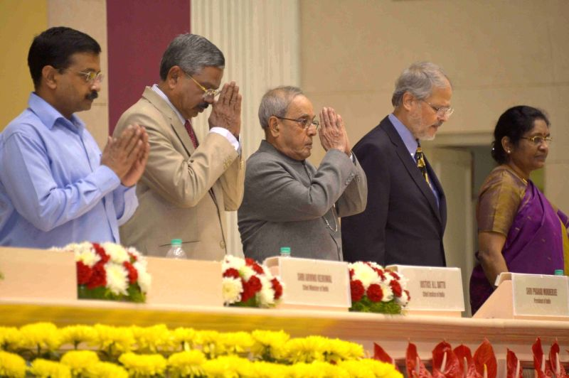 President Pranab Mukherjee at the inauguration of the Goldren Jubilee Celebrations of High Court of Delhi, in New Delhi on Oct 31, 2015. - Pranab Mukherjee