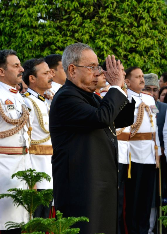 President Pranab Mukherjee during `At Home` hosted on the occasion of 68th Independence Day at Rashtrapati Bhavan on August 15, 2013. - Pranab Mukherjee