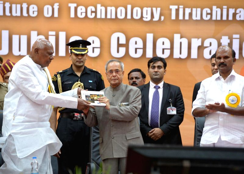 President Pranab Mukherjee during inauguration of Golden Jubilee Celebration of National Institute of Technology at Tiruchirappalli in Tamil Nadu on July 19, 2014. - Pranab Mukherjee