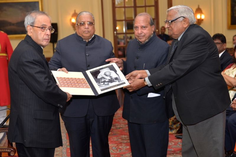 President Pranab Mukherjee during the inauguration the Anti Leprosy Fortnight and Leprosy Seal Campaign at Rashtrapati Bhavan in New Delhi on Jan 30, 2016. - Pranab Mukherjee