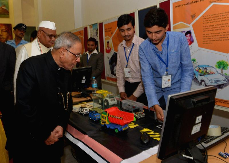 President Pranab Mukherjee  during the golden jubilee convocation of Jawaharlal Nehru Krishi Vishwa Vidyalaya at Jabalpur in Madhya Pradesh on June 27, 2014. - Pranab Mukherjee