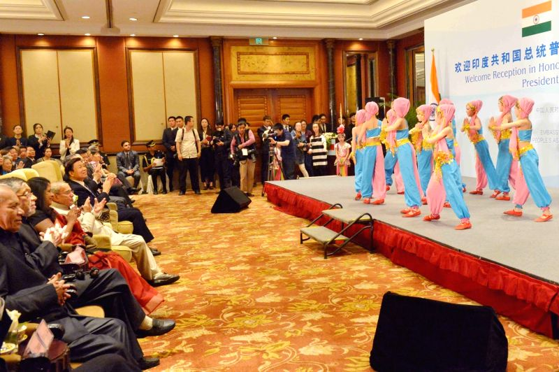 President Pranab Mukherjee during the reception co-hosted by Embassy of India and Chinese People's Association for Friendship with Foreign Countries (CPAFFC) in Beijing, China on May 25, ... - Pranab Mukherjee