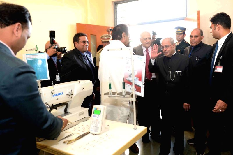 President Mukherjee visits Apparel Training & Design Centre - Pranab Mukherjee