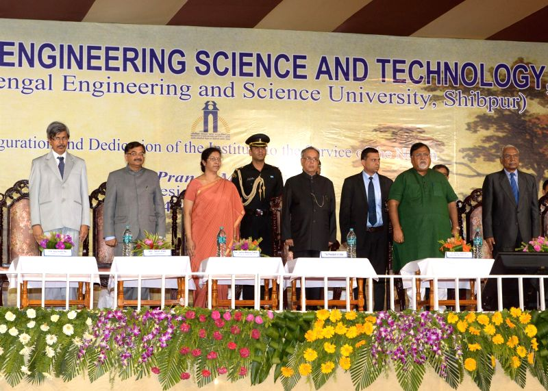 President Pranab Mukherjeer, inaugurating the Indian Institute of Engineering Science & Technology at Shibpur in West Bengal on Aug. 24, 2014.