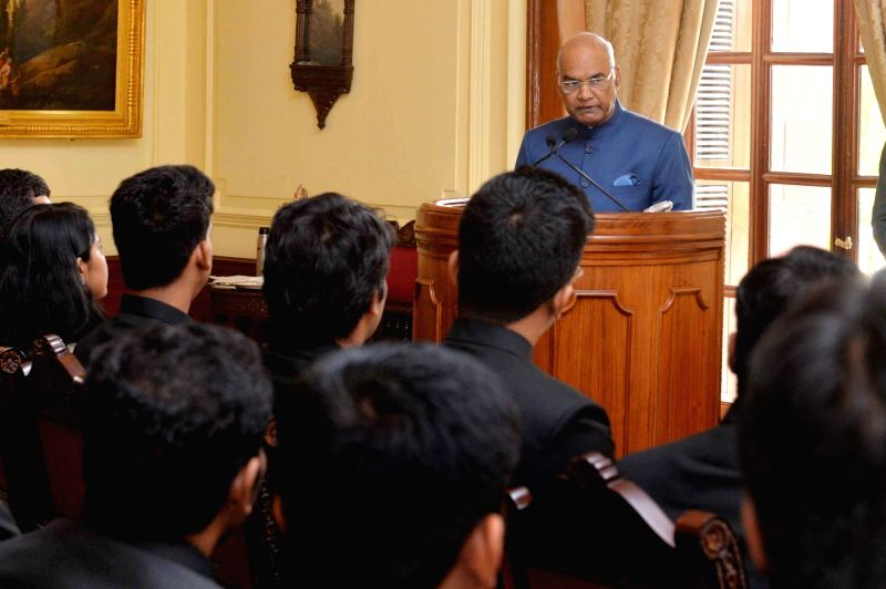 President Ram Nath Kovind addresses 2017 batch Officer Trainees of Indian Foreign Service (IFS) from Foreign Service Institute, at Rashtrapati Bhavan in New Delhi on June 6, 2018.