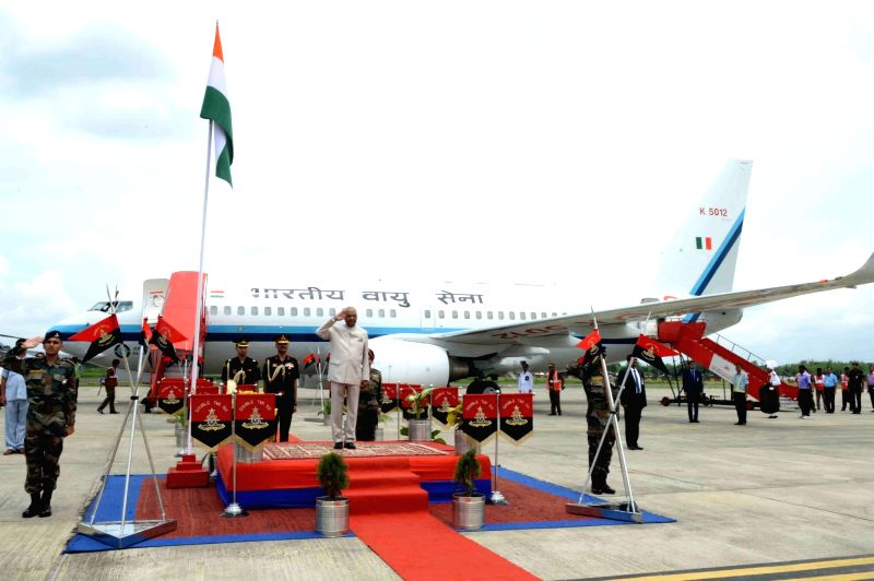 President Ram Nath Kovind arrives at Agartala airport on June 7, 2018. - Nath Kovind