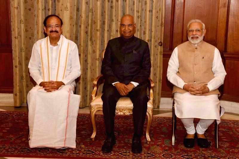 Venkaiah Naidu Takes Oath As 13th Vice Prez Of India