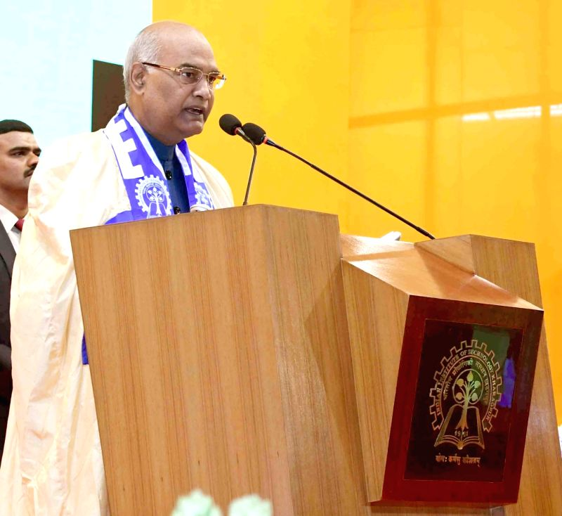 President Ram Nath Kovind during a programme at IIT Kharagpur, in West Bengal, on July 20, 2018. - Nath Kovind