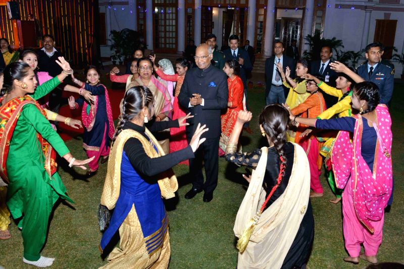 President Ram Nath Kovind during the Rashtrapati Bhavan Divas celebrations at President's Estate in New Delhi on Feb 1, 2018. - Nath Kovind