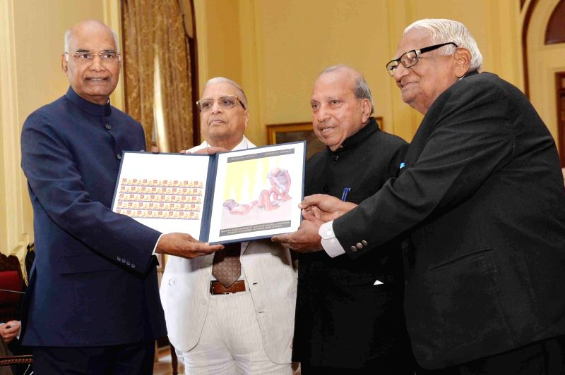 President Ram Nath Kovind inaugurates the Anti Leprosy Fortnight and Leprosy Seal Campaign at Rashtrapati Bhavan in New Delhi on Jan 30, 2018. - Nath Kovind