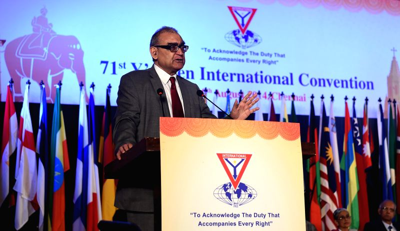 Press Council of India Chairman Markandey Katju during the inaugural function of 71st Y's Men International Convention in Chennai on Aug 7, 2014.