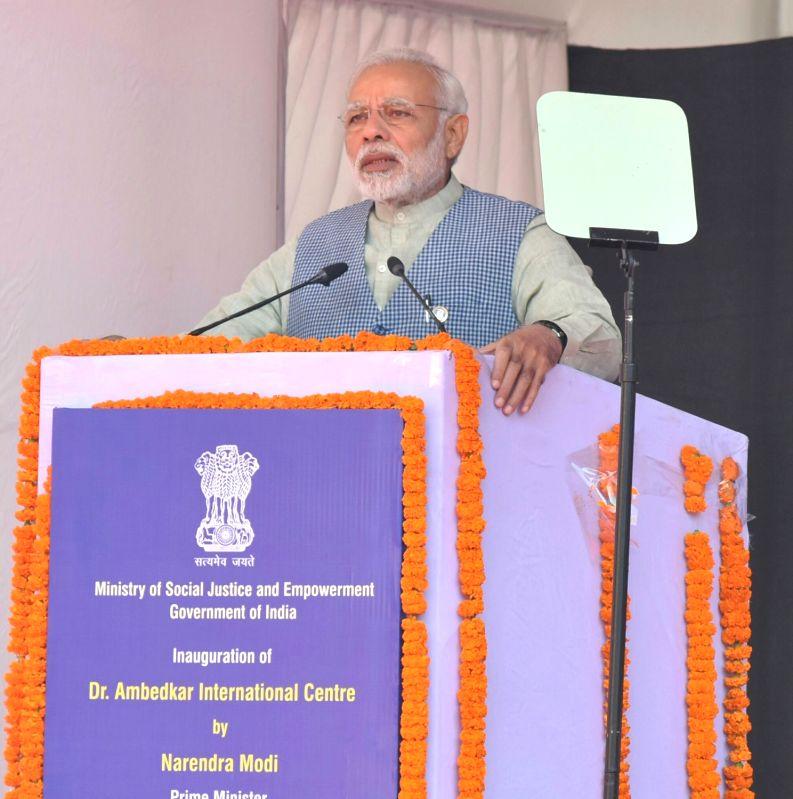 Prime Minister Narendra Modi addresses at a ceremony to dedicate Dr. Ambedkar International Centre to the Nation in New Delhi on Dec 7, 2017. - Narendra Modi