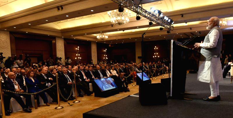 Prime Minister Narendra Modi addresses at the India-Turkey Business Summit, in New Delhi on May 1, 2017. - Narendra Modi
