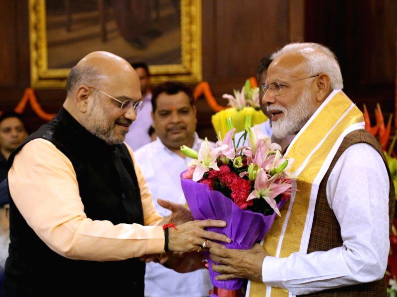 Prime Minister Narendra Modi and BJP chief Amit Shah. (Photo: Amlan Paliwal/IANS)