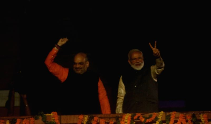 Prime Minister Narendra Modi and BJP chief Amit Shah. (Photo: Bidesh Manna/IANS)