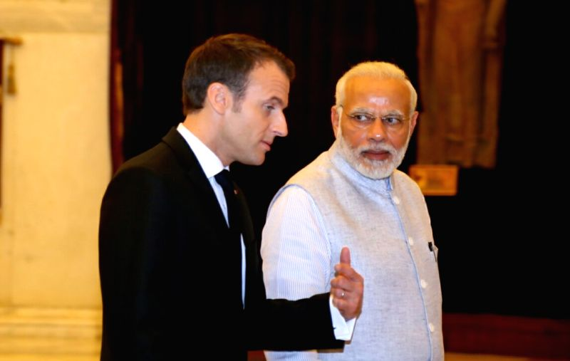 Prime Minister Narendra Modi and French President Emmanuel Macron. (File Photo: IANS)