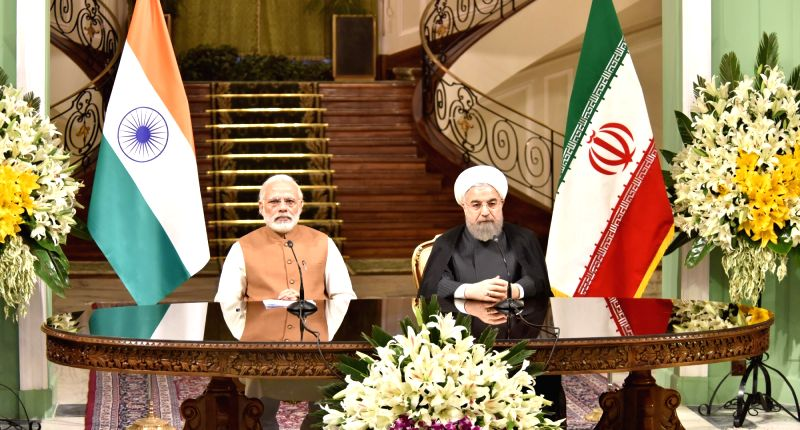 Prime Minister Narendra Modi and the President of Iran Hassan Rouhani, during the Joint Press Statement, in Tehran, Iran on May 23, 2016. - Narendra Modi and Hassan Rouhani