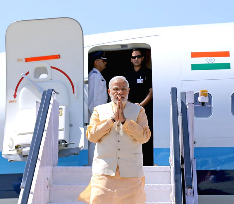 Prime Minister Narendra Modi arrives at Amritsar airport on March 23, 2015. - Narendra Modi