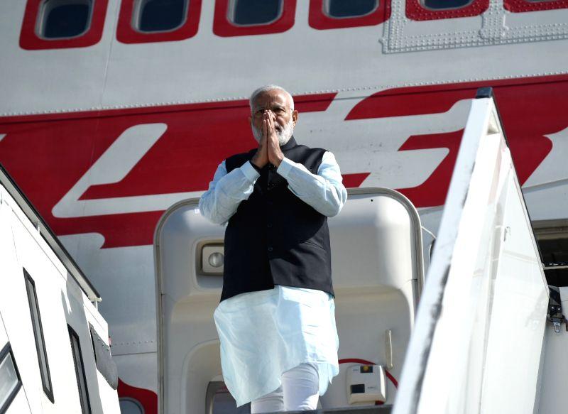 Prime Minister Narendra Modi arrives at Berlin, Germany on May 29, 2017. - Narendra Modi