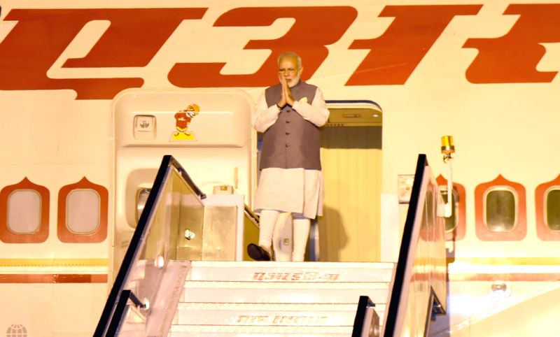 Prime Minister Narendra Modi arrives at New Delhi, after attending SCO Summit, at Astana, Kazakhstan, on June 10, 2017. - Narendra Modi