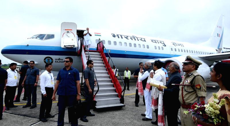 Prime Minister Narendra Modi arrives in Dibrugarh, Assam on May 26, 2017. - Narendra Modi