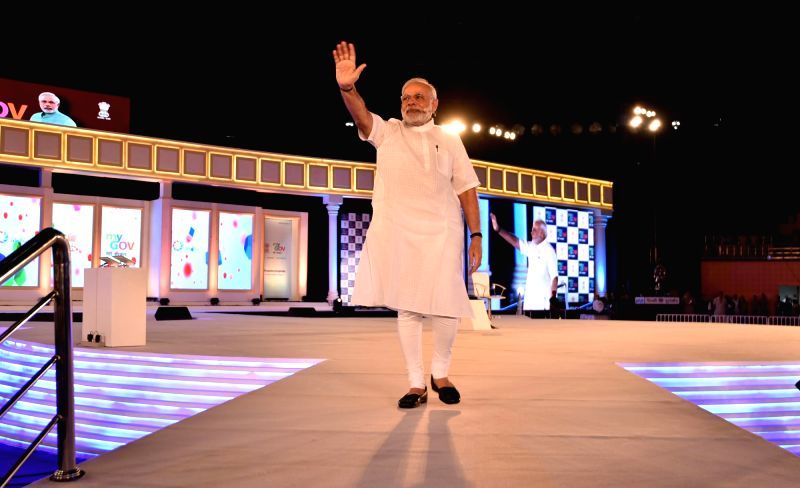 Prime Minister Narendra Modi at the 2nd Year Anniversary celebrations of MyGov, in New Delhi on Aug. 6, 2016. - Narendra Modi