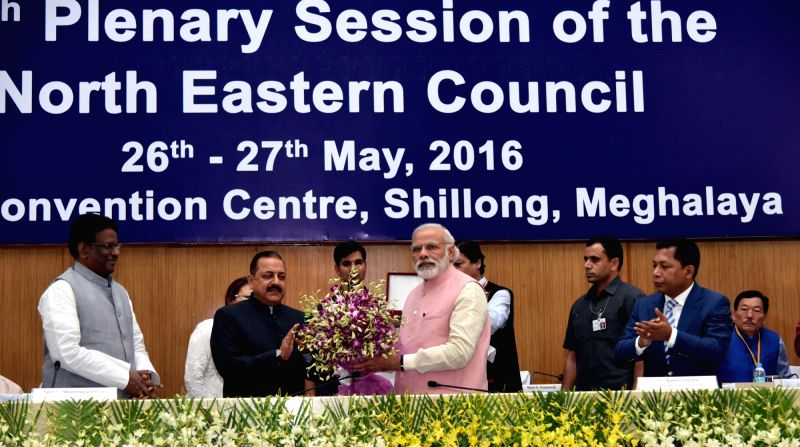 Prime Minister Narendra Modi at the 65th Plenary Session of the North Eastern Council, in Shillong on May 27, 2016. - Narendra Modi