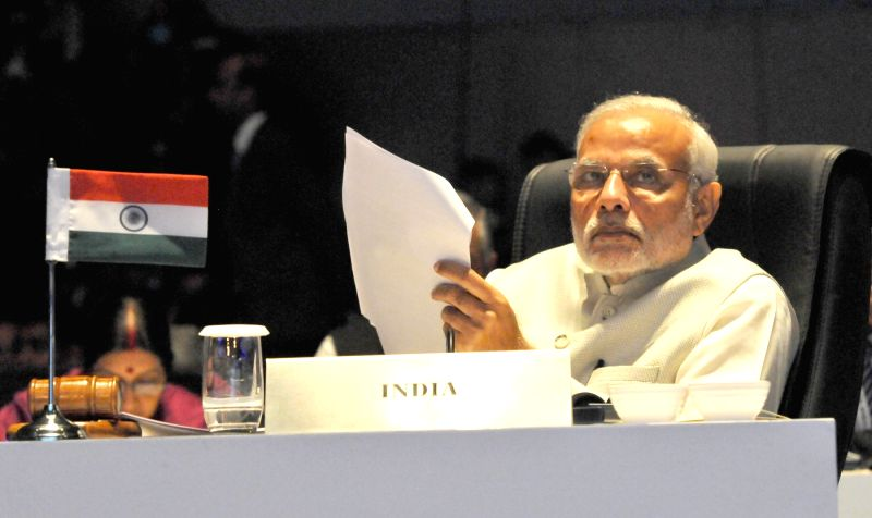 Prime Minister Narendra Modi at the inaugural ceremony of the 3rd India Africa Forum Summit 2015, in New Delhi on Oct 29, 2015. - Narendra Modi