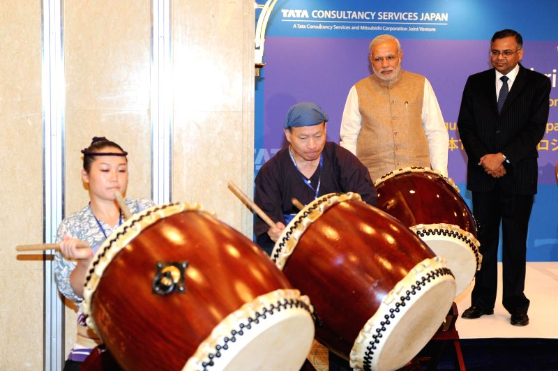Prime Minister Narendra Modi at the inauguration of the TCS Japan Technology and Cultural Academy in Tokyo, Japan on Sept 2, 2014. - Narendra Modi
