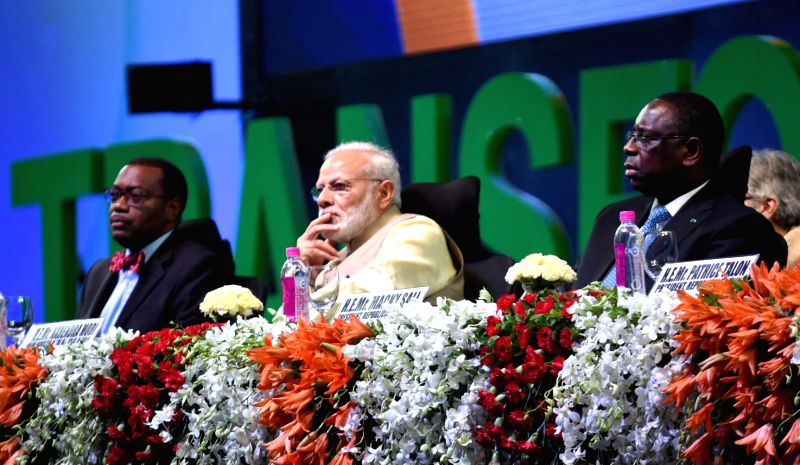 Prime Minister Narendra Modi at the opening ceremony of the Annual Meeting of the African Development Bank, in Gandhinagar, Gujarat on May 23, 2017. - Narendra Modi