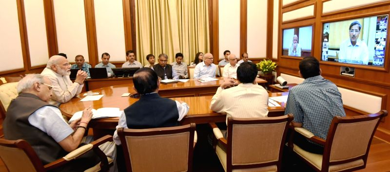 Prime Minister Narendra Modi chairs eighteenth interaction through PRAGATI - the ICT-based, multi-modal platform for Pro-Active Governance and Timely Implementation, in New Delhi on April ... - Narendra Modi