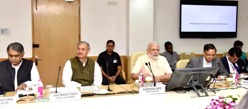 Prime Minister Narendra Modi chairs the NITI Aayog meeting on 15-year vision document, in New Delhi on July 28, 2016. - Narendra Modi