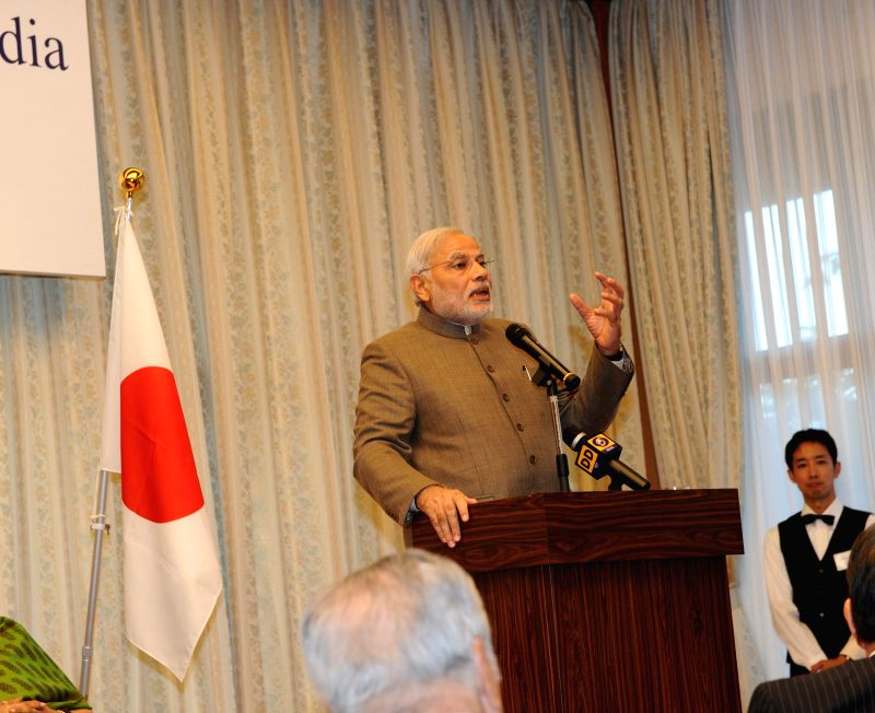 Prime Minister Narendra Modi delivers keynote address during a programme hosted by Japan-Indian Association and Japan-India Parliamentary Friendship League (Kensei Kinenkan), in Tokyo, Japan on ... - Narendra Modi
