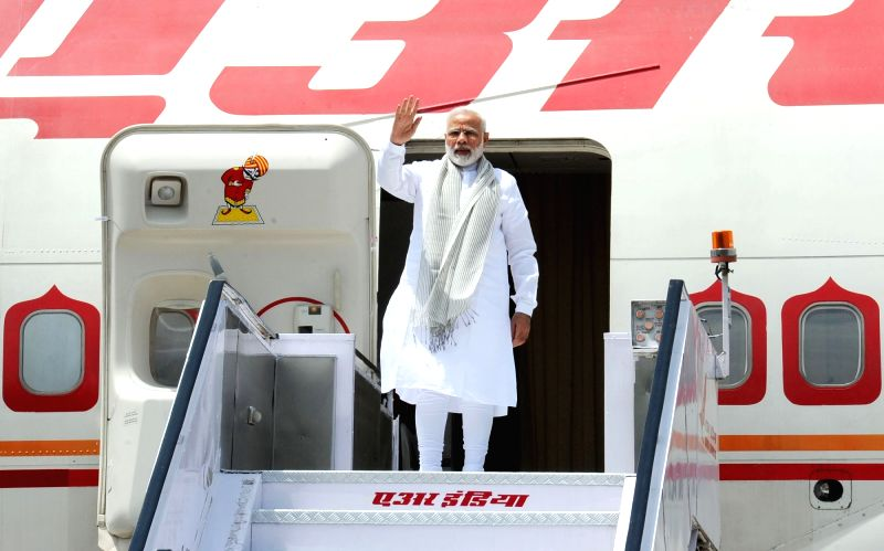 Prime Minister Narendra Modi departs for Astana, Kazakhstan to attend the Shanghai Cooperation Organisation (SCO) Summit from New Delhi on June 8, 2017. - Narendra Modi
