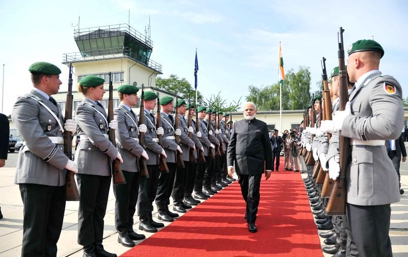 Prime Minister Narendra Modi departs from Germany for Spain after concluding the first leg of his four nation visit, on May 30, 2017. - Narendra Modi