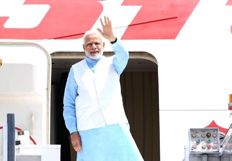 Prime Minister Narendra Modi departs from New Delhi for three-nation state visit to Rwanda, Uganda and South Africa, on July 23, 2018. - Narendra Modi