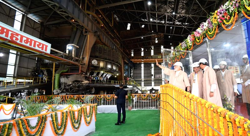 Prime Minister Narendra Modi during a programme organised to launch the modernised and expanded Bhilai Steel Plant on June 14, 2018. - Narendra Modi