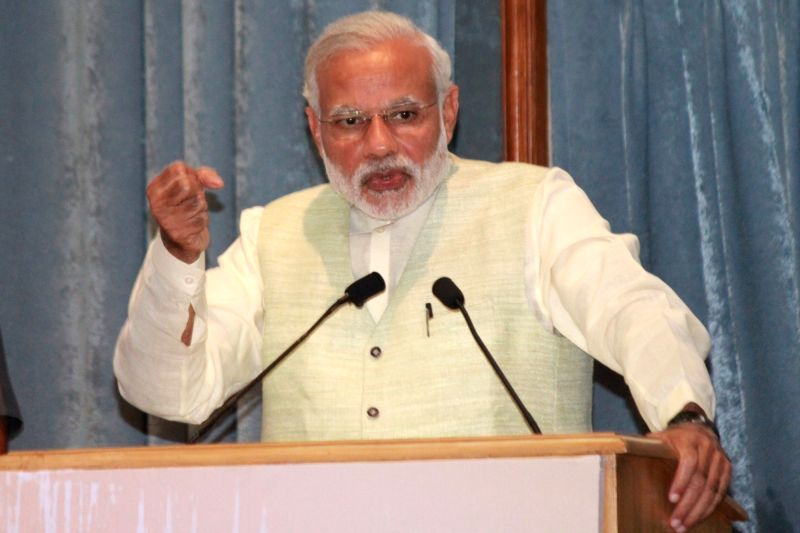 : Prime Minister Narendra Modi during a programme organised on the Legal Service Day organised by National Legal Service Authority, in New Delhi, on Nov 9, 2015. . - Narendra Modi