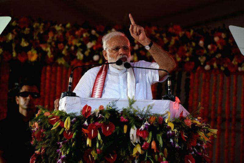 PM Modi addresses rally in Odisha