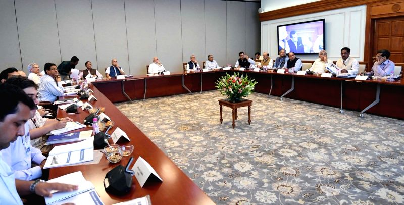 Prime Minister Narendra Modi during a review meeting of Transport and Housing sectors, in New Delhi, on  Aug 3, 2018 - Narendra Modi