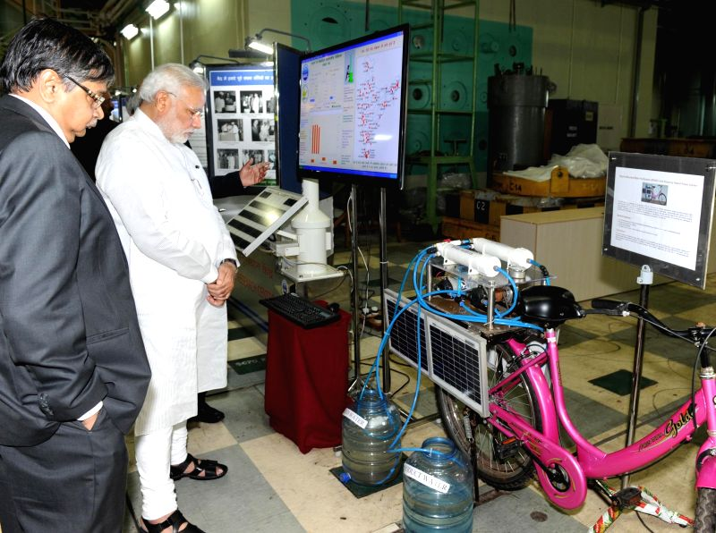 Prime Minister Narendra Modi during his visit to Bhabha Atomic Research Centre (BARC) in Mumbai on July 21, 2014. - Narendra Modi