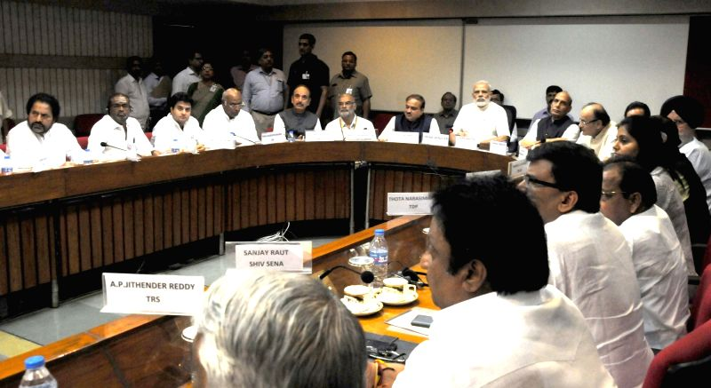 Prime Minister Narendra Modi during the All Party meeting in New Delhi on July 17, 2016. - Narendra Modi