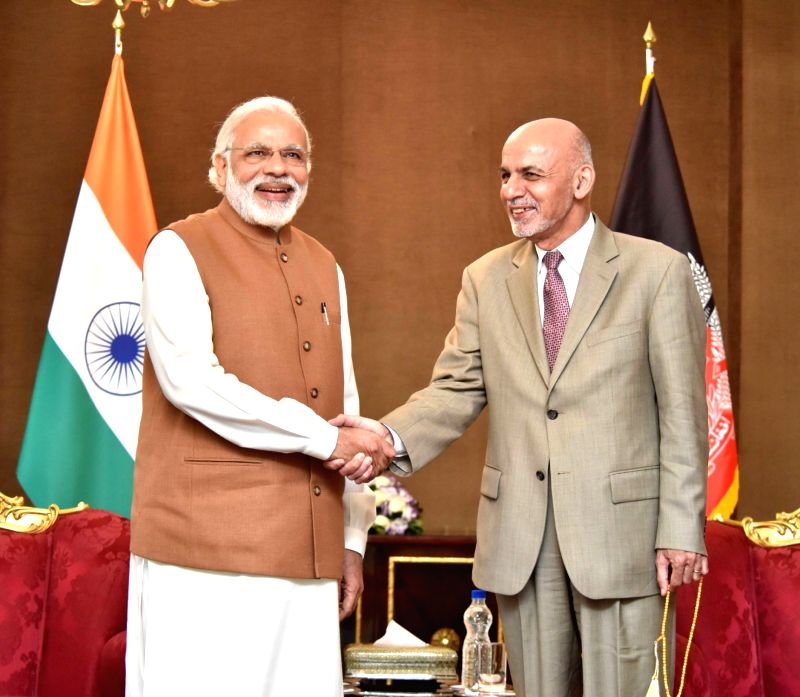 Prime Minister Narendra Modi meets Afghanistan President Dr Mohammad Ashraf Ghani, in Tehran, Iran on May 23, 2016. - Narendra Modi