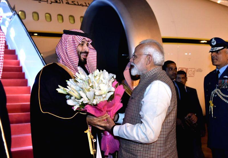 PM Modi receives Saudi Crown Prince