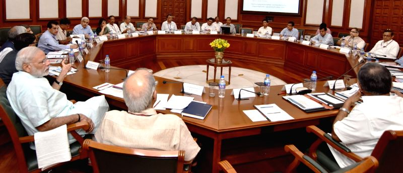 Prime Minister Narendra Modi reviews the progress of Infrastructure Sectors in New Delhi on Aug 22, 2016. - Narendra Modi