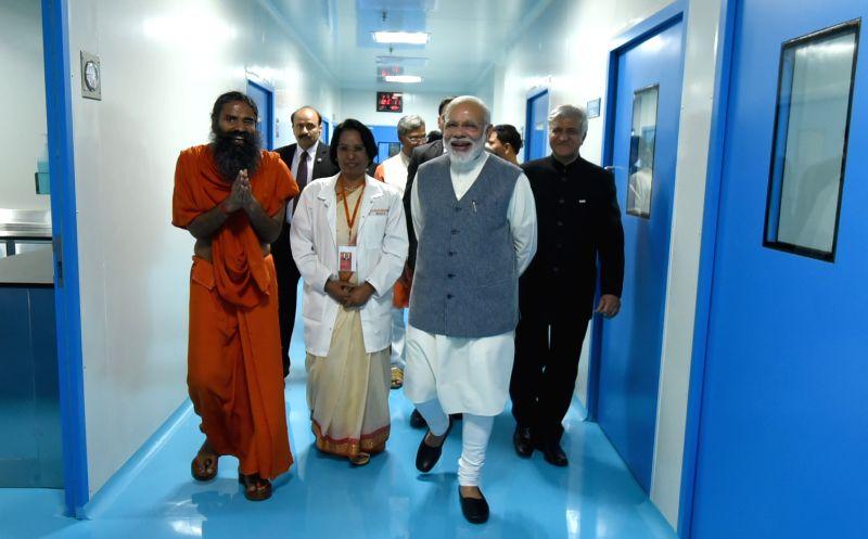 Prime Minister Narendra Modi visits Drug Discovery & Research Laboratory in Haridwar on May 3, 2017. - Narendra Modi