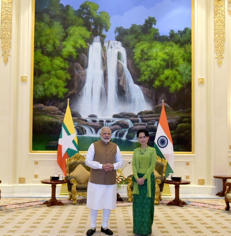 PM Modi meets Aung San Suu Kyi - Narendra Modi
