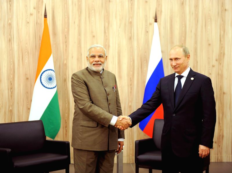 Prime Minister Narendra Modi with the President of the Russian Federation, Vladimir Putin during a bilateral meeting on the sidelines of the Sixth BRICS Summit in Fortaleza, Brazil on July 15, 2014. - Narendra Modi